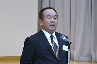 代議員会・弓場新会長.JPG